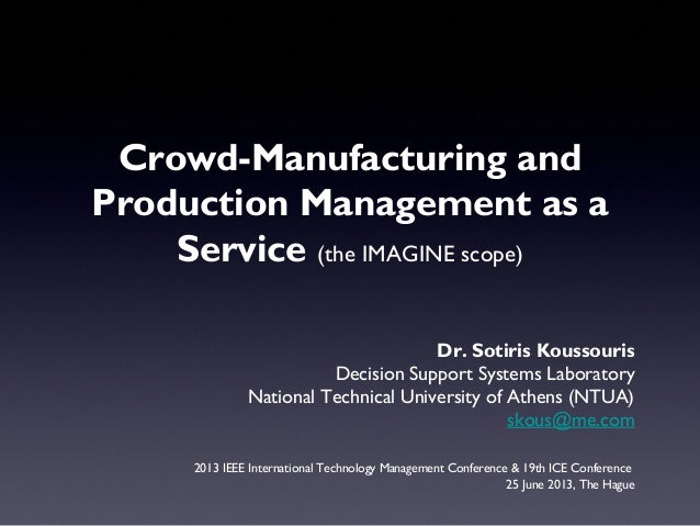 Dr. Sotiris Koussouris Decision Support Systems Laboratory National Technical University of Athens (NTUA) skous@me.com 201...
