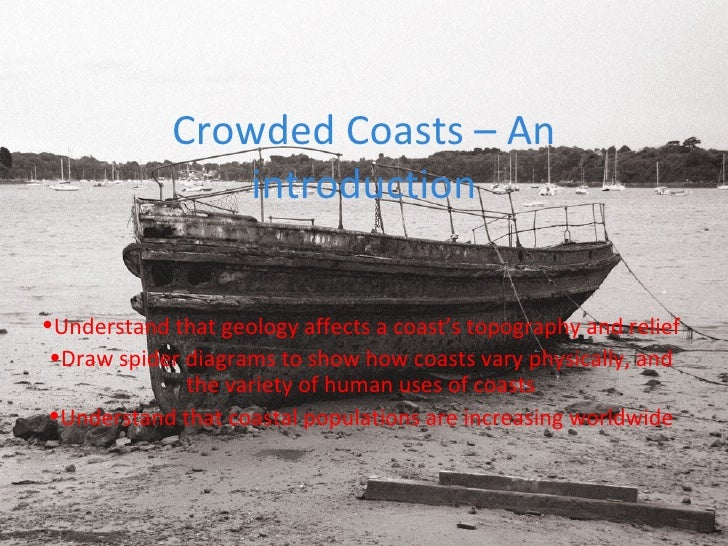 Crowded Coasts – An introduction <ul><li>Understand that geology affects a coast's topography and relief </li></ul><ul><li...