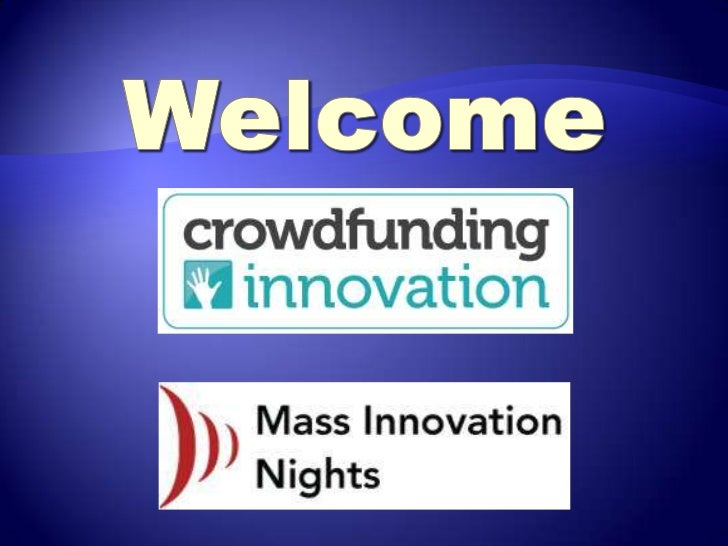 Crowdfunding Innovation - a SPECIAL Mass Inno Event