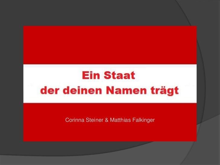 Corinna Steiner & Matthias Falkinger