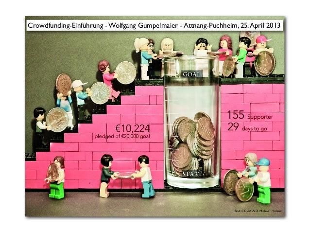 Bild: CC-BY-ND Michael HolzerCrowdfunding-Einführung - Wolfgang Gumpelmaier - Attnang-Puchheim, 25.April 2013