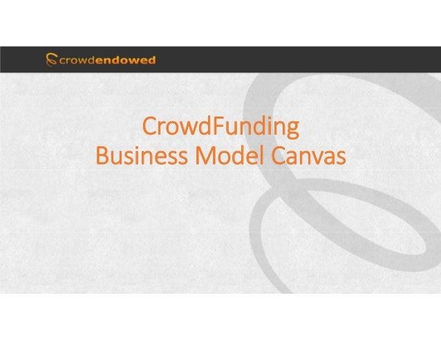 CrowdFunding BusinessModelCanvas