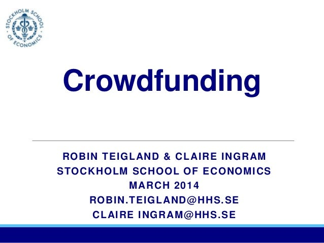 Crowdfunding - Sweden and Trends