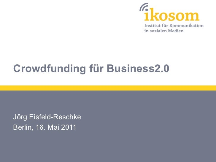 Crowdfunding für Business2.0