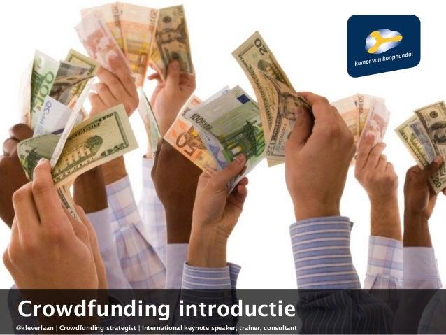 Crowdfunding introductie KvK en Livewire
