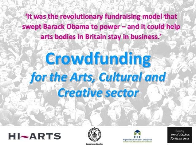 Crowdfunding Workshop Benbecula November 2012
