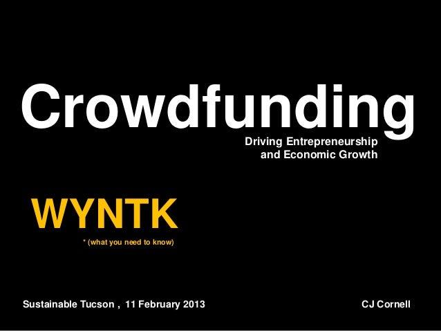 Crowdfunding                            Driving Entrepreneurship                                           and Economic Gr...