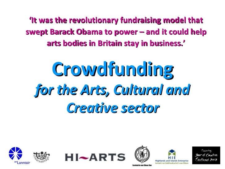 Crowdfunding Presentation by HI-Arts, Stornoway