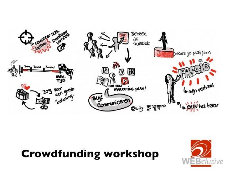 Crowdfunding workshop voor fondsenwervers