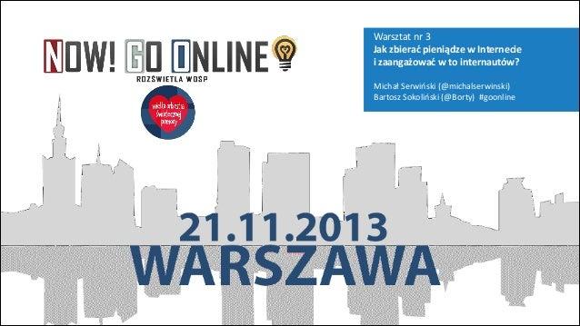 Crowdfunding, WOŚP, Bartosz Sokoliński
