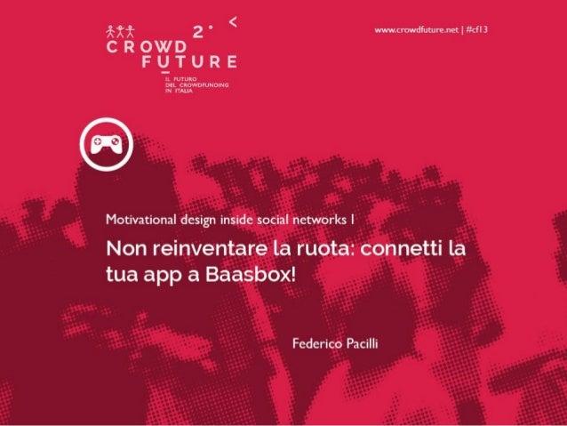 Motivational design inside social networks (Federico Pacilli)