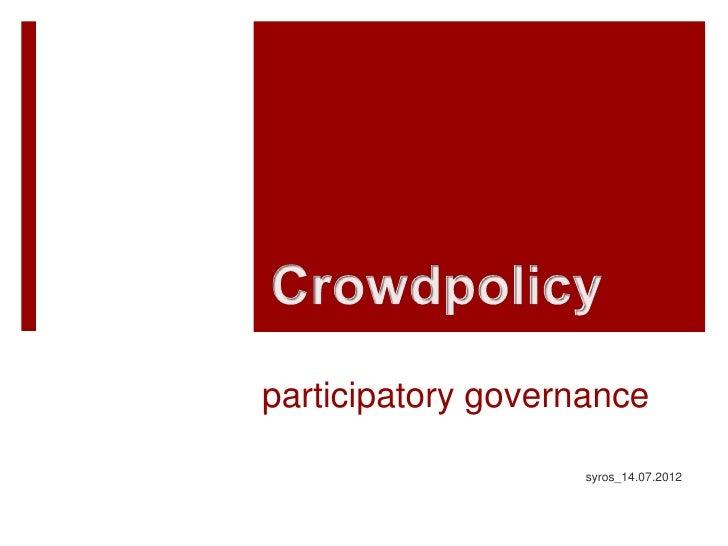 participatory governance                    syros_14.07.2012