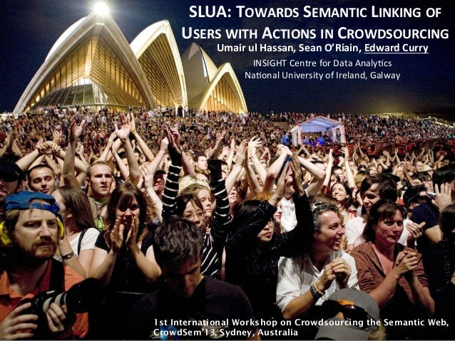 SLUA:  TOWARDS  SEMANTIC  LINKING  OF   USERS  WITH  ACTIONS  IN  CROWDSOURCING   www.insight-‐centre...