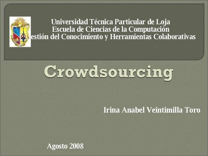 Universidad Técnica Particular de Loja Escuela de Ciencias de la Computación Gestión del Conocimiento y Herramientas Colab...