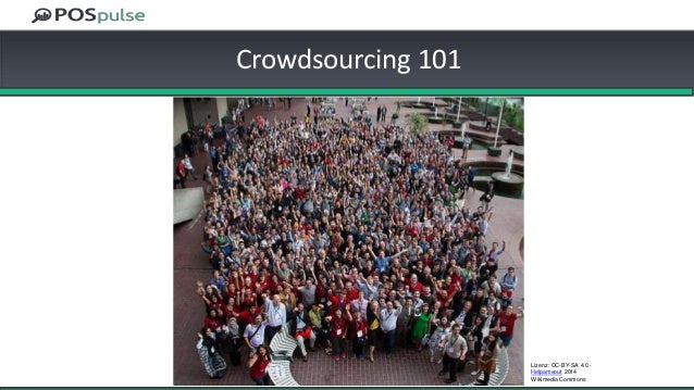 Crowdsourcing 101 Lizenz: CC-BY-SA 4.0 - Helpameout 2014 Wikimedia Commons