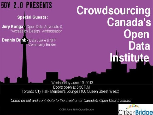 Crowdsourcing Canada's Open Data Institute