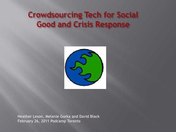 Podcamp Toronto: Crowdsourcing Crisis Commons