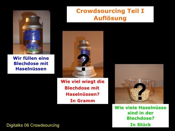 Crowdsourcing  Results der Haselnuss-Schätzfrage