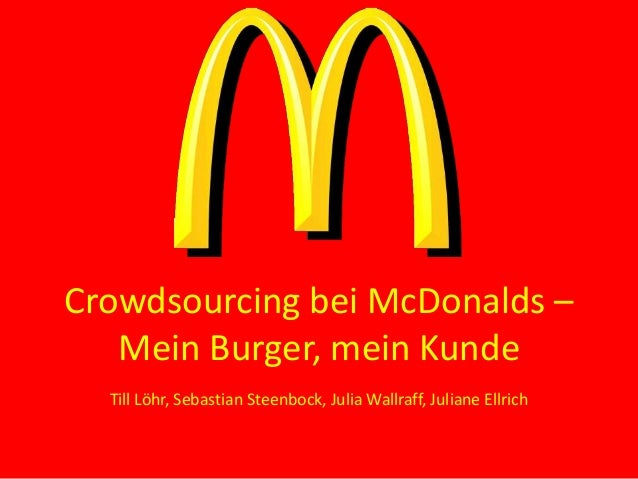 Crowdsourcing bei McDonalds
