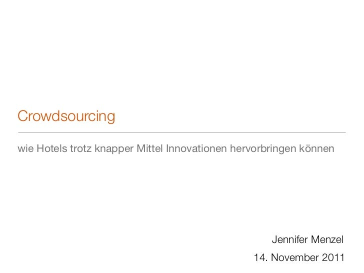 Crowdsourcing in der Hotellerie