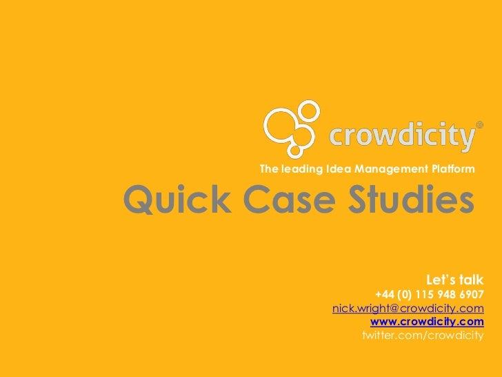 The leading Idea Management PlatformQuick Case Studies                                    Let's talk                      ...