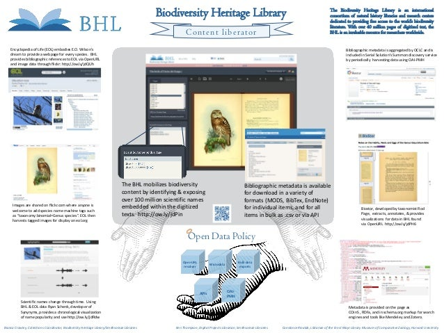 Poster RDAP13: Biodiversity Heritage Library Content Liberator
