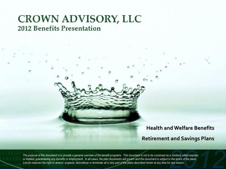 Health and Welfare Benefits                                                                                               ...
