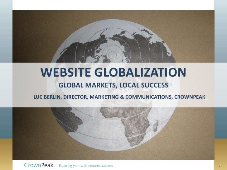 CrownPeak Website Globalization Videocast