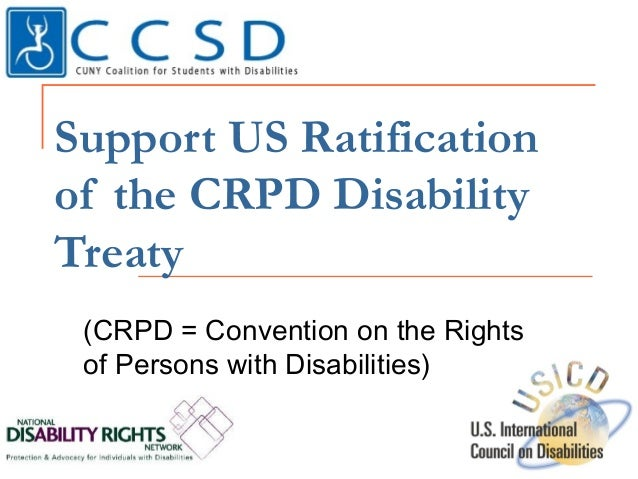Support US Ratification of the CRPD Disability Treaty