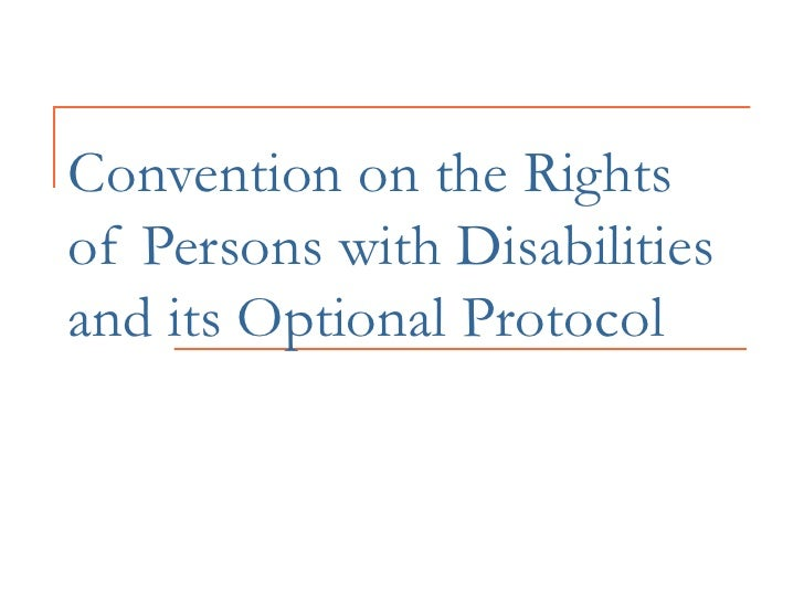 UN CONVENTION ON DISABILITY BASICS