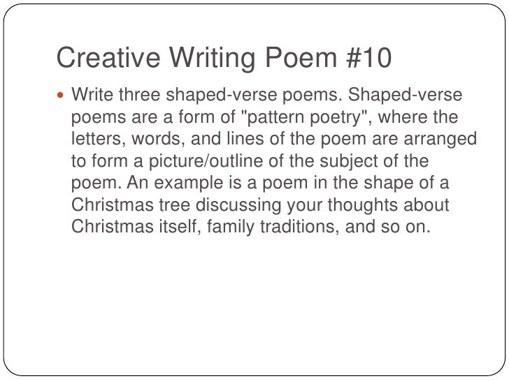 Creative writing - Wikipedia, the free encyclopedia