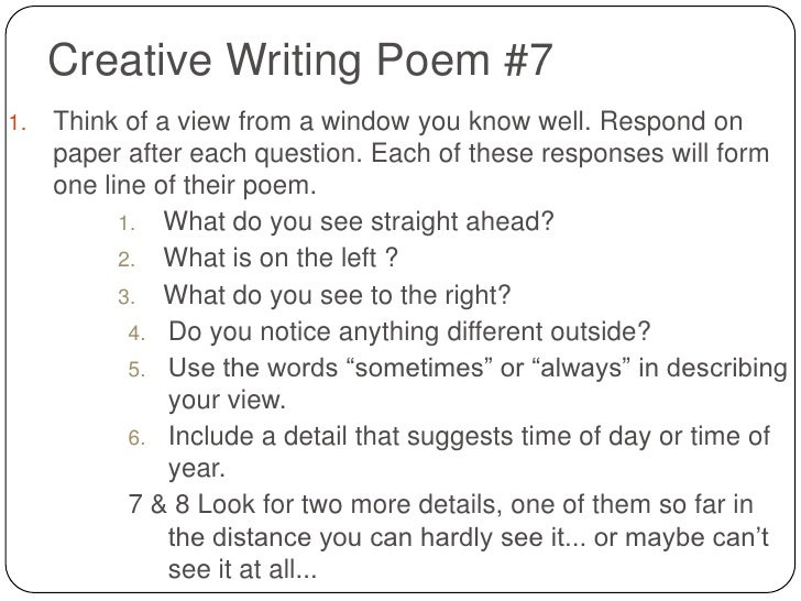 Creative writing poetry