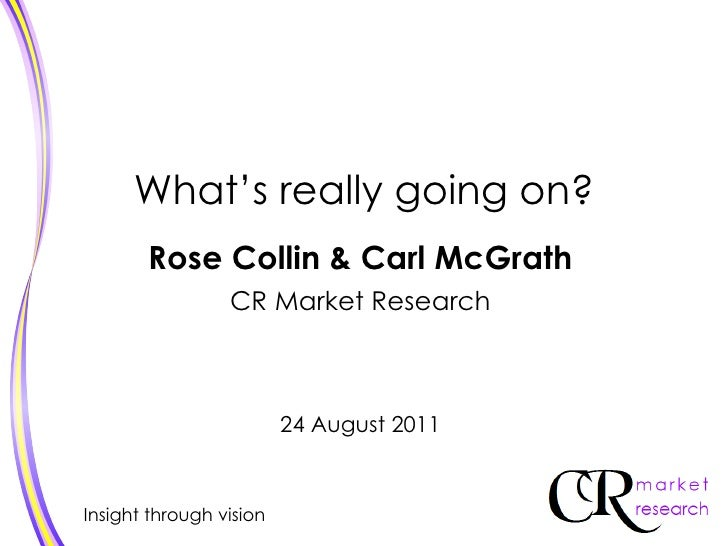 What's really going on?       Rose Collin & Carl McGrath                 CR Market Research                         24 Aug...