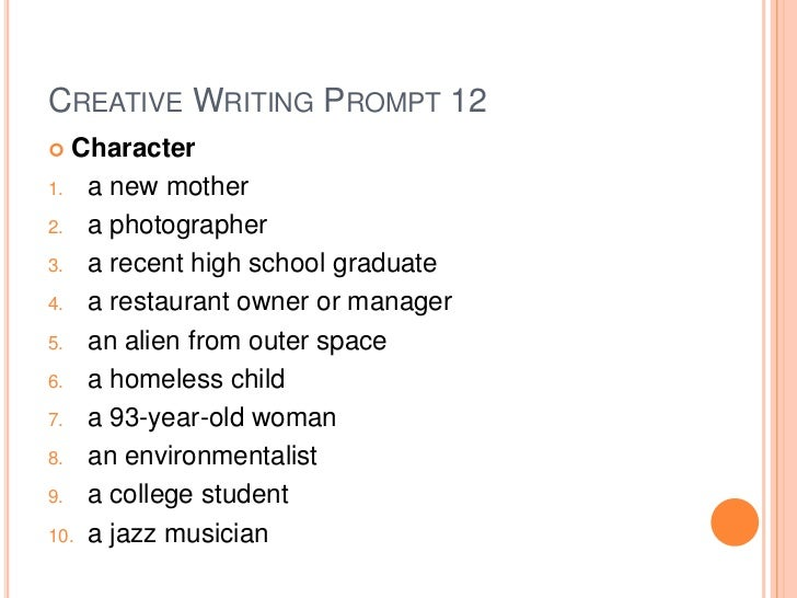 creative writing college essay prompts Creative non-fiction refers to biographies, memoirs, essays, and other works based on fact told with use of literary techniques employed in fiction, poetry, playwriting or other creative writing.