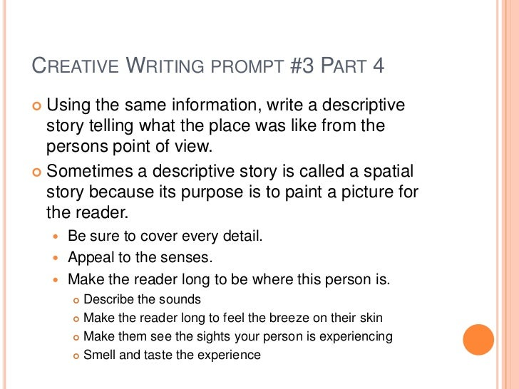 Creative writing essay prompts