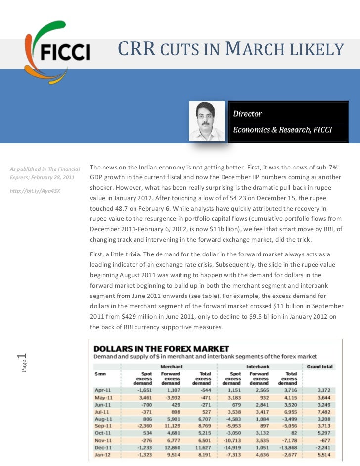 CRR Cuts in March 2012