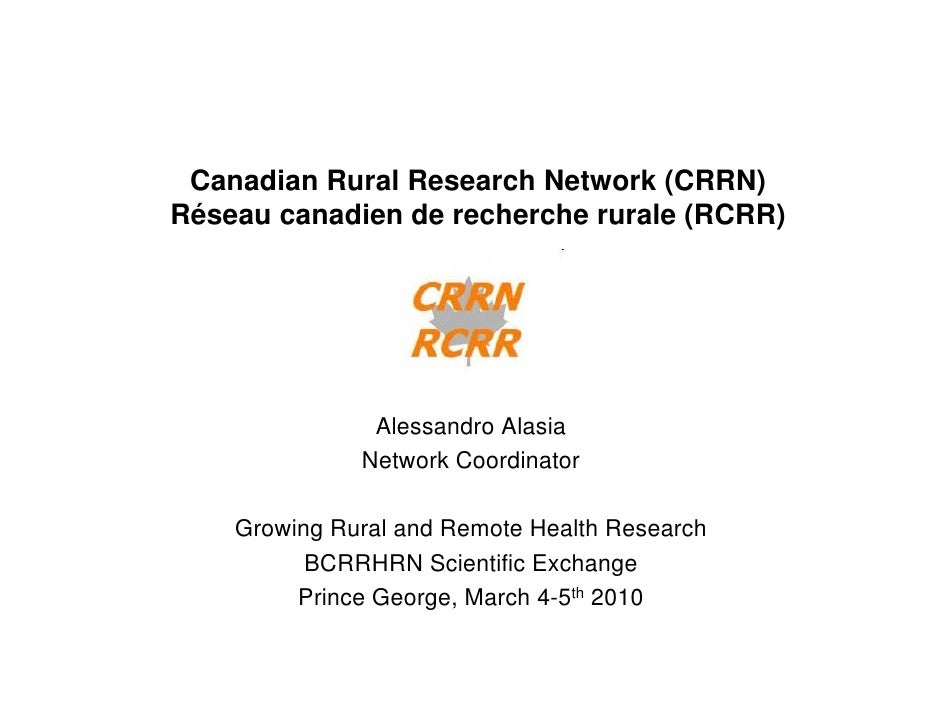 Crrn presentation pg