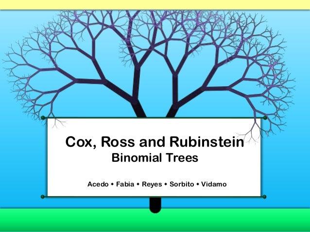 Cox, Ross and Rubinstein        Binomial Trees  Acedo  Fabia  Reyes  Sorbito  Vidamo