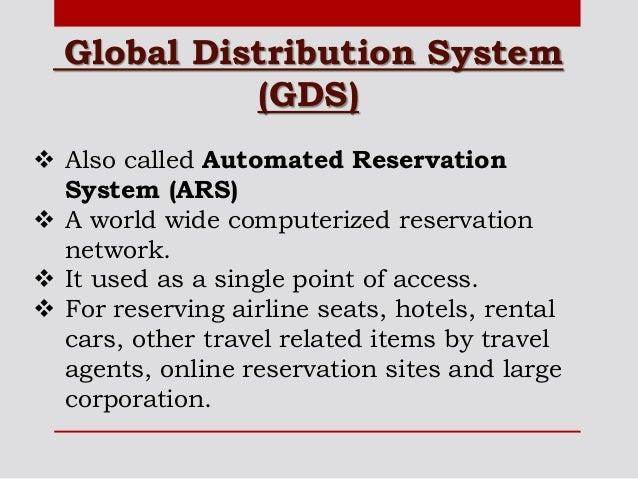Computer Reservation System Crs Amp Global Distribution