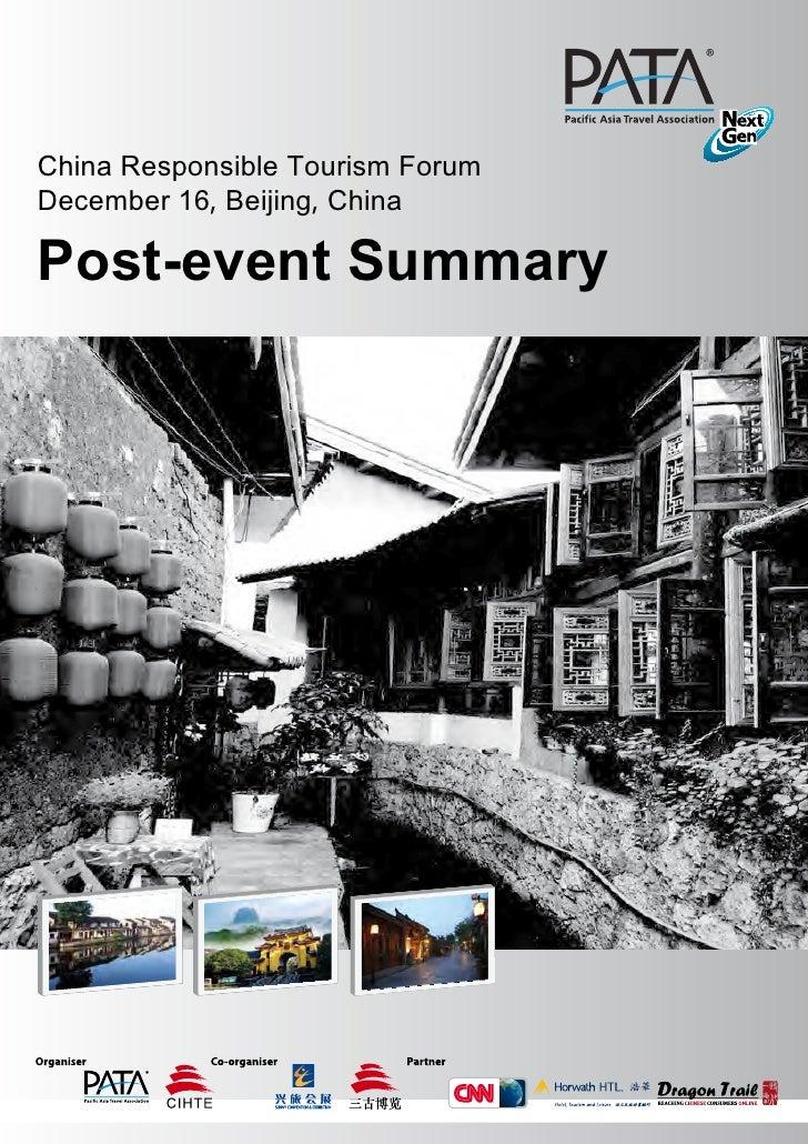 China Responsible Tourism Forum - 2011