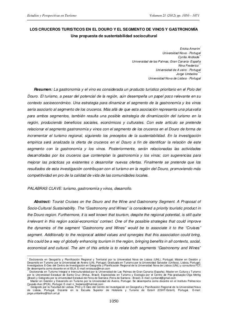 Estudios y Perspectivas en Turismo                                                                  Volumen 21 (2012) pp. ...