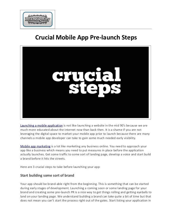 Crucial Mobile App Pre-launch Steps
