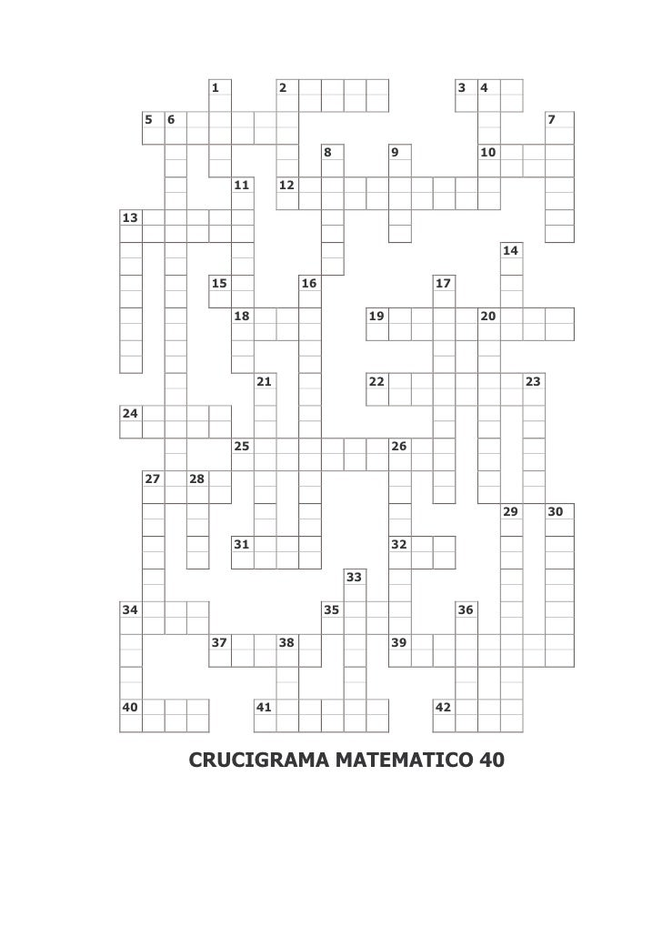 Crucigrama Matematico 40