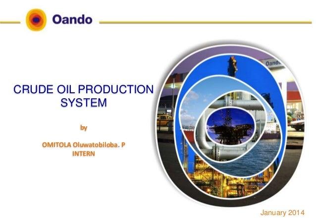 CRUDE OIL PRODUCTION SYSTEM by OMITOLA Oluwatobiloba. P INTERN January 2014