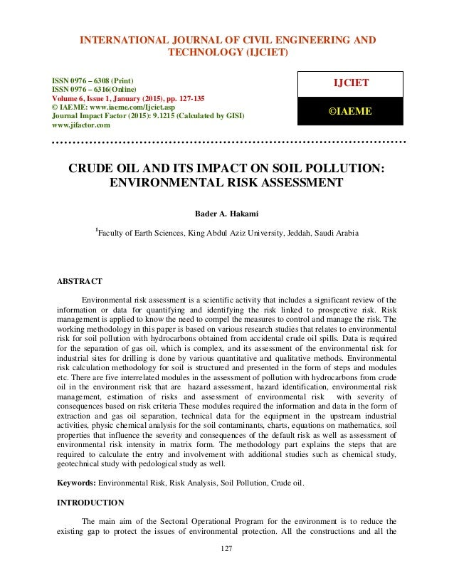 crude oil research paper