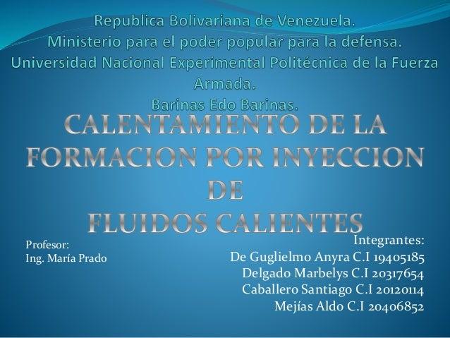 Integrantes: De Guglielmo Anyra C.I 19405185 Delgado Marbelys C.I 20317654 Caballero Santiago C.I 20120114 Mejías Aldo C.I...
