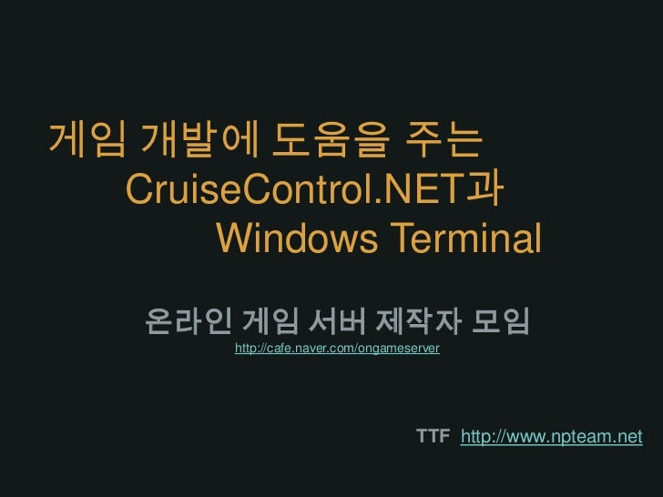 Cruise control net_and_terminal_with_gamedev