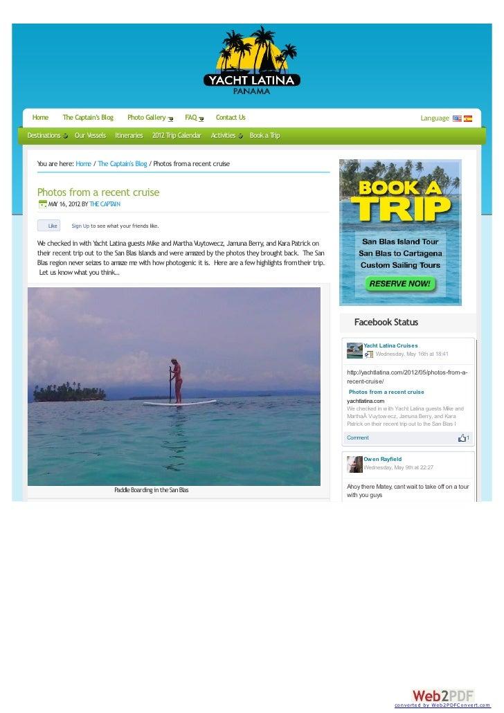Cruise photos in the San Blas Islands of Panama