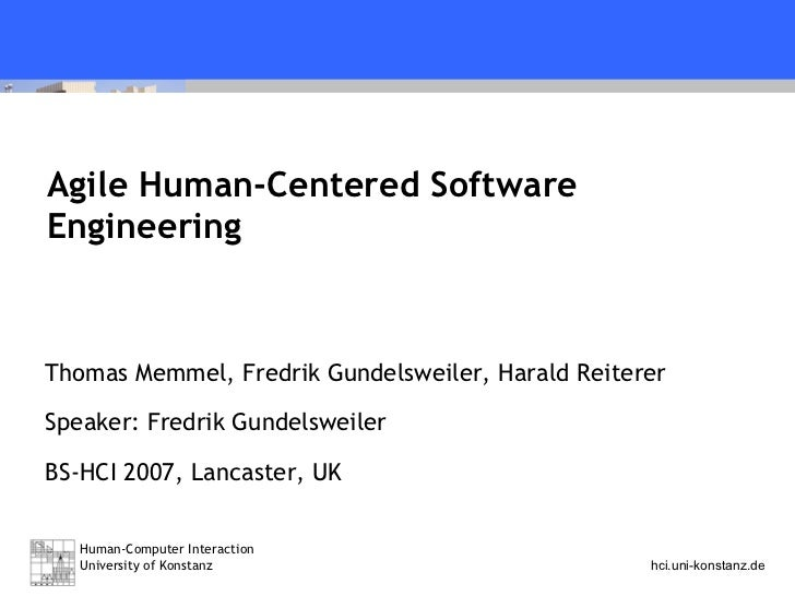Agile Human-Centered Software Engineering