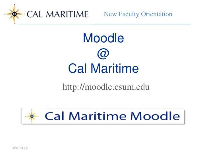 New Faculty Orientation                        New Faculty Orientation                 Moodle                    @        ...